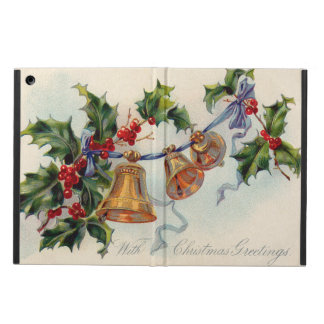 Bells Ribbon Holly Winterberry Case For iPad Air