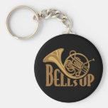 Bells Up Horn Basic Round Button Keychain