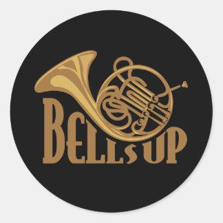 Bells Up Horn Classic Round Sticker
