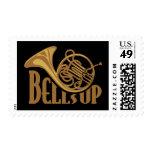 Bells Up Horn Postage Stamp