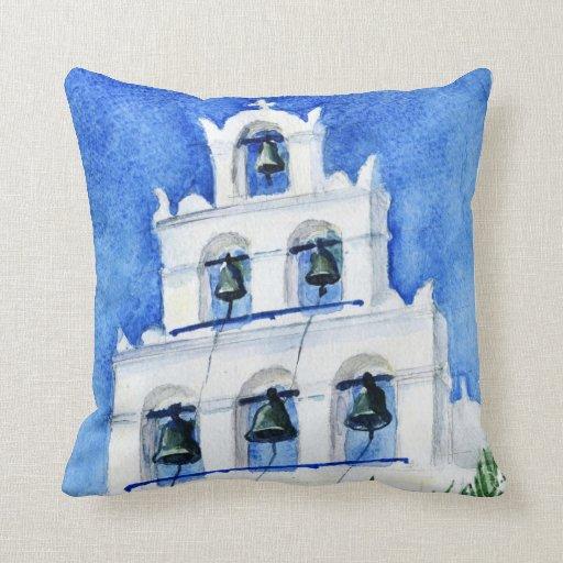 Belltower Grecia de Santorini Cojín Decorativo