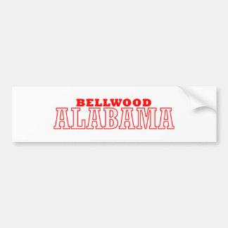 Bellwood, diseño de la ciudad de Alabama Pegatina Para Auto