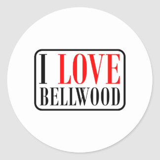 Bellwood, diseño de la ciudad de Alabama Pegatina Redonda
