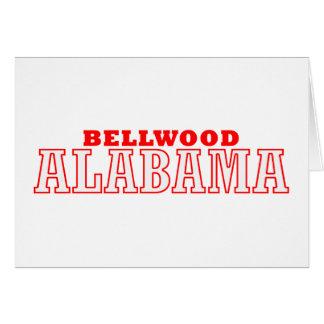 Bellwood, diseño de la ciudad de Alabama Tarjeta De Felicitación