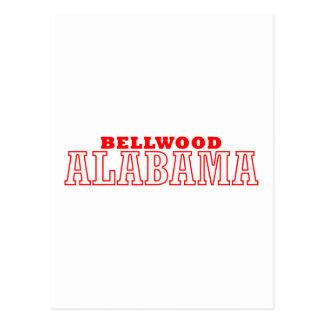 Bellwood, diseño de la ciudad de Alabama Tarjeta Postal