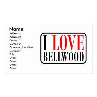Bellwood, diseño de la ciudad de Alabama Tarjetas De Visita