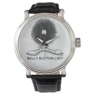 Belly Button Lint Wristwatch