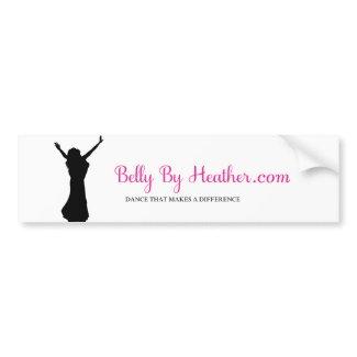 Belly By Heather bumper sticker Car Bumper Sticker