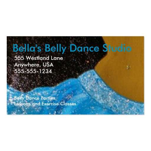 Belly dance business card zazzle for Dance business cards