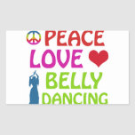 Belly Dance designs Rectangle Sticker
