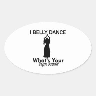 Belly Dance designs Oval Sticker