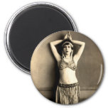 Belly Dancer 2 Inch Round Magnet