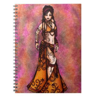 Belly Dancer Art Notebook