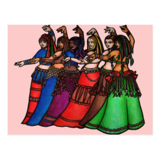 Belly Dancer art Postcard
