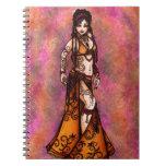 Belly Dancer Art Spiral Notebooks