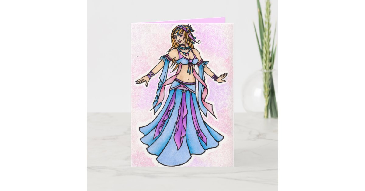 Belly Dancer Birthday Cards Zazzle