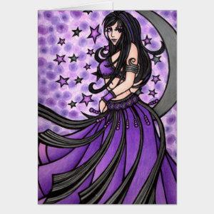 Pretty Purple Belly Dancer Card
