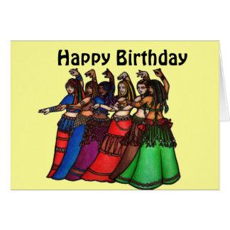 Belly Dancer Birthday Cards
