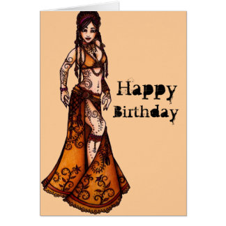 middle eastern dancing greeting cards  zazzle, Birthday card
