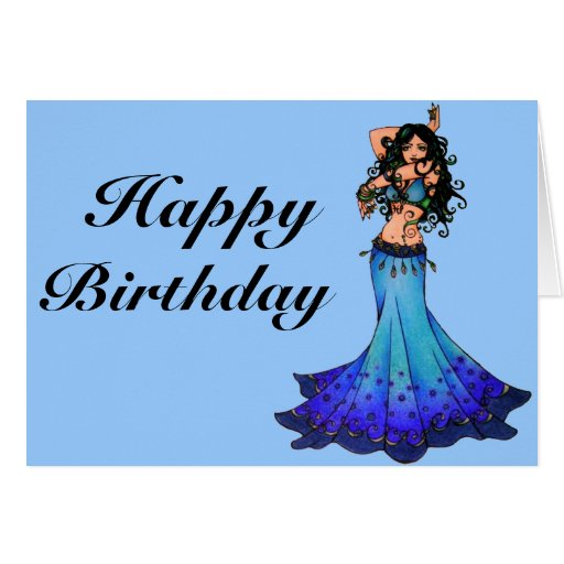 Belly Dancer Birthday Cards Zazzle Happy Birthday Wishes For A Dancer