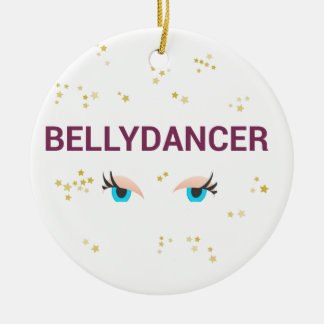 Belly dancer eyes ceramic ornament