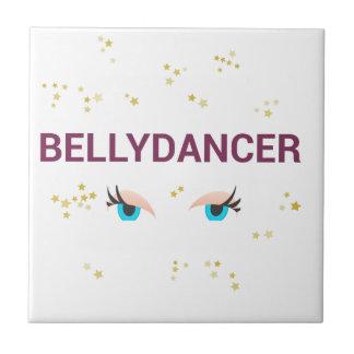 Belly dancer eyes ceramic tile
