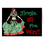 Belly Dancer Fritzie Greeting Card