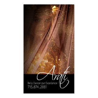 Belly Dancer I, Bollywood, Hindi Fashion Business Cards