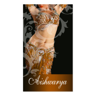 Belly Dancer III, Bollywood Hindi Fashion (gold) Business Card