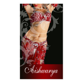 Belly Dancer III, Bollywood Hindi Fashion (red) Business Card
