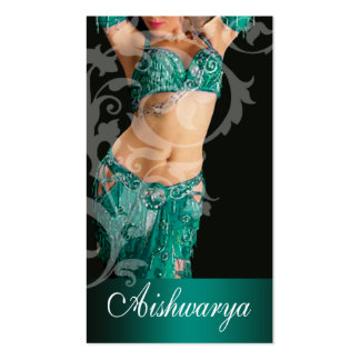 Belly Dancer III, Bollywood Hindi Fashion (teal) Business Cards