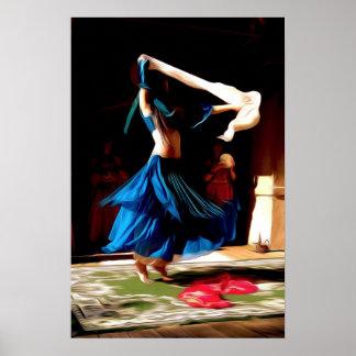 Belly dancer in oil poster