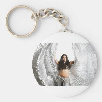 Belly Dancer In Silver Keychain