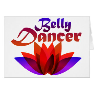 Belly Dancer Lotus Card