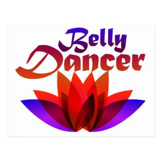 Belly Dancer Lotus Postcard