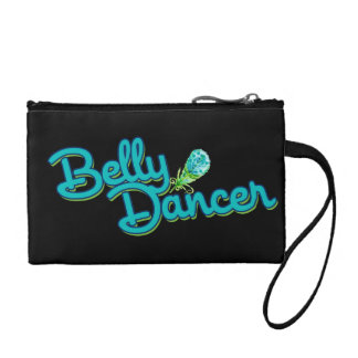 Belly dancer peacock colors coin wallet