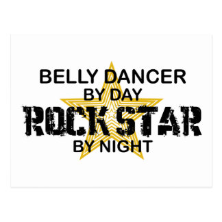 Belly Dancer Rock Star by Night Postcard