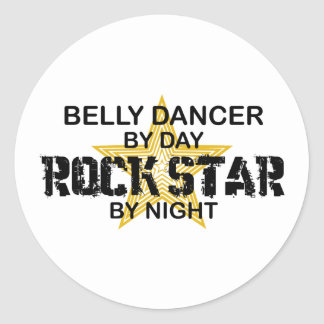 Belly Dancer Rock Star by Night Stickers