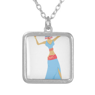 Belly Dancer Silver Plated Necklace
