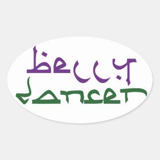 Belly Dancer Oval Sticker