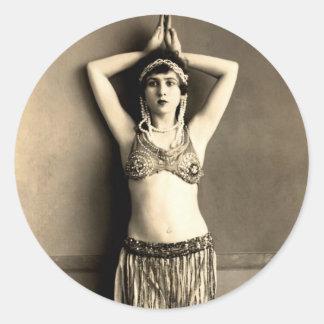 Belly Dancer Round Stickers