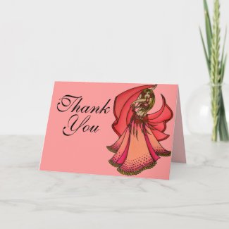 Belly Dancer Thank You Cards