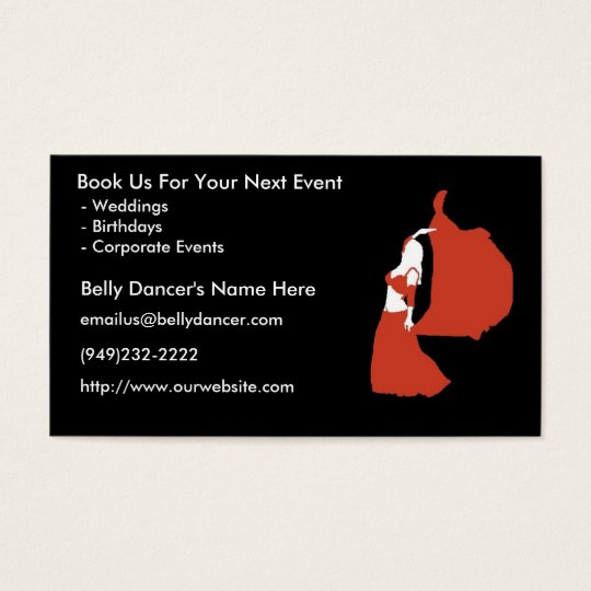 Belly Dancer's Business Cards - Package of 100