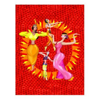 Belly Dancers Postcard