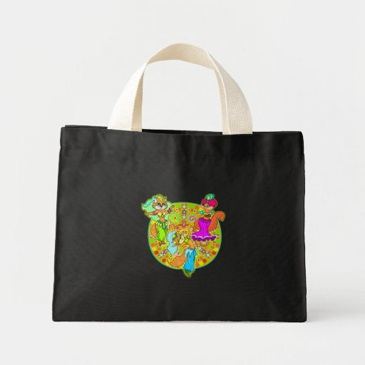 Belly Dancing Cats Canvas Bags
