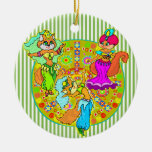 Belly Dancing Cats Christmas Ornaments