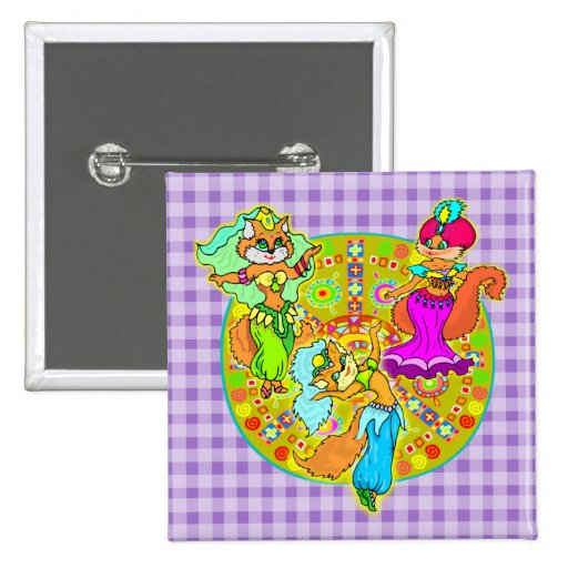 Belly Dancing Cats Pinback Buttons