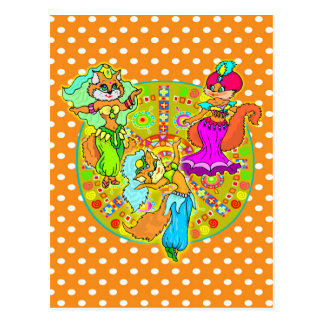 Belly Dancing Cats Postcard