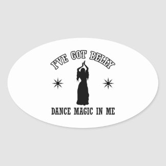 belly dancing design oval sticker