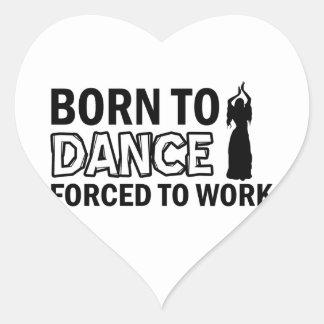 belly-dancing designs heart stickers